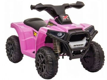 X Racer Mini Quad Bike Pink 6v Electric Ride On ATV Style Toy